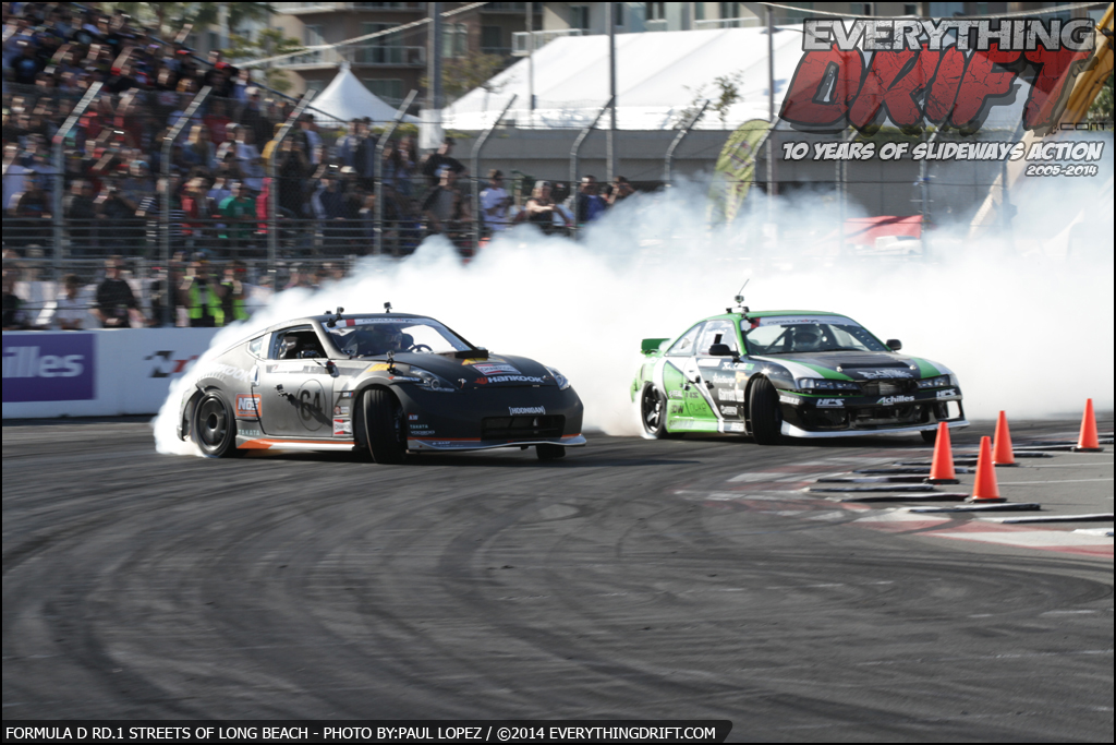 Formula D Rd.1 Streets of Long Beach 2014